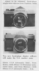 First published look at the new Pentamatic from Yashica. May 1960