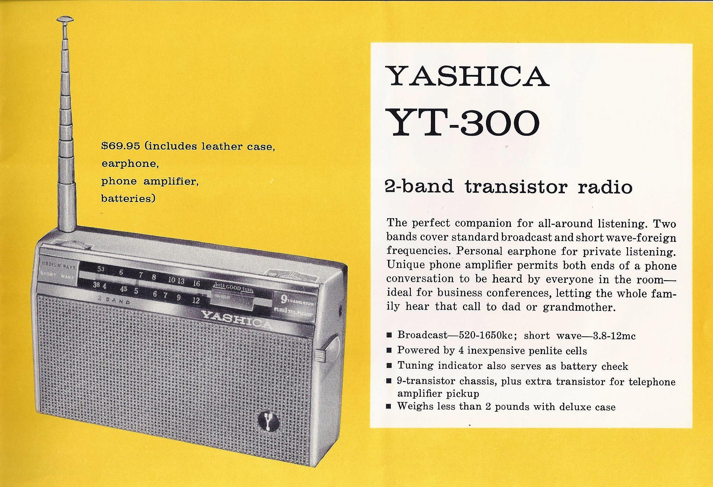 Yashica YT-300 Radio Brochure