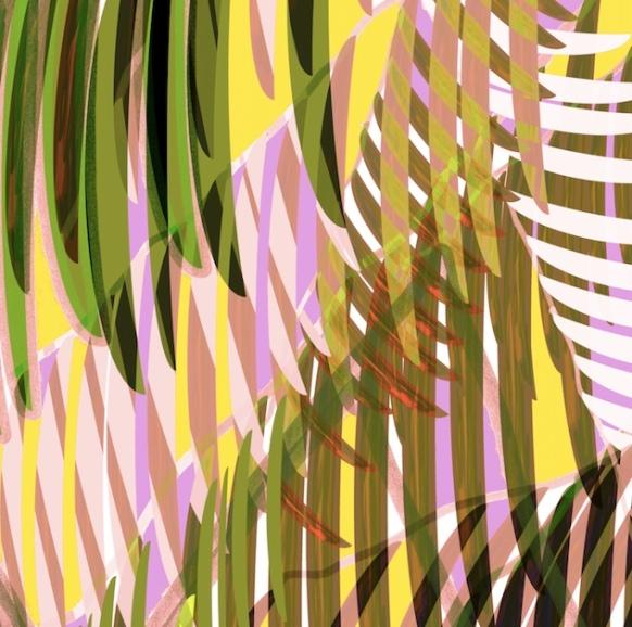peek-a-boo through the palms - by cynthia maniglia