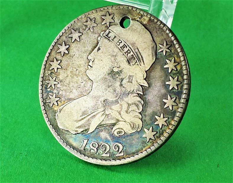 1822 silver coin