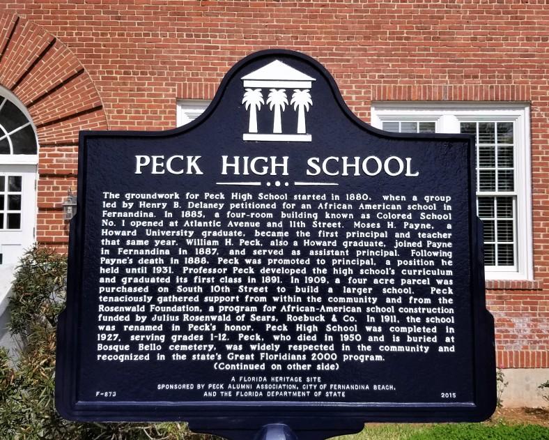 Peck High School Fernandina Beach Florida