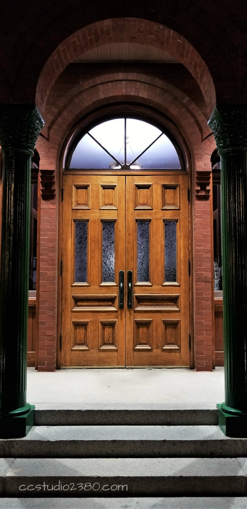 doors with logo