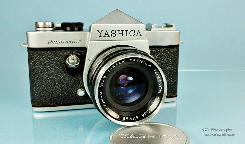 yashica p1 in blue