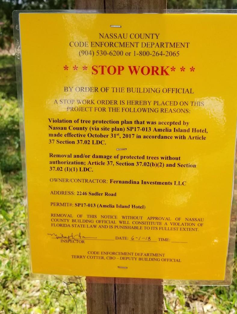 Stop Work Order