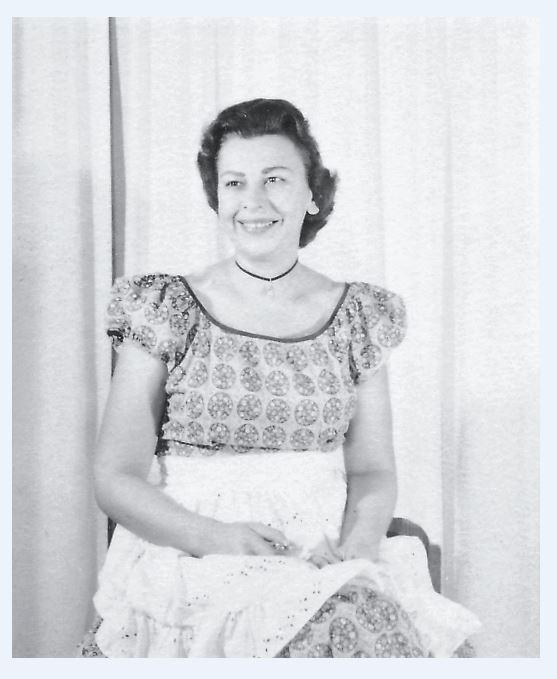 Mom in Dress 1950s