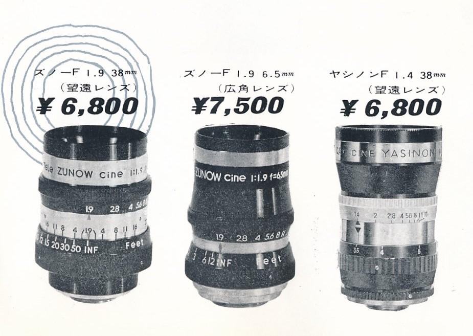 yasinon zunow lens