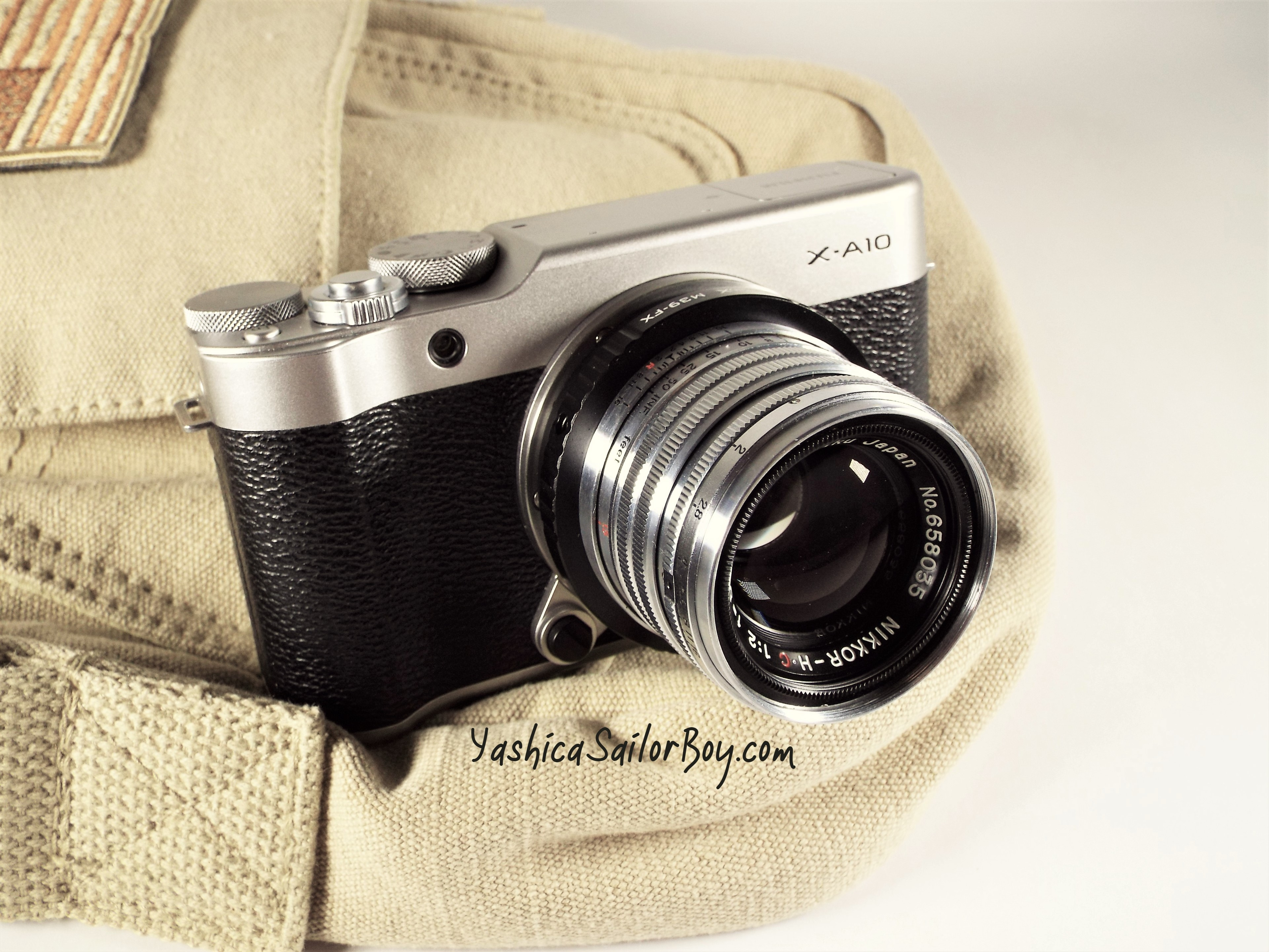Fujifilm X-A10 with Nikkor