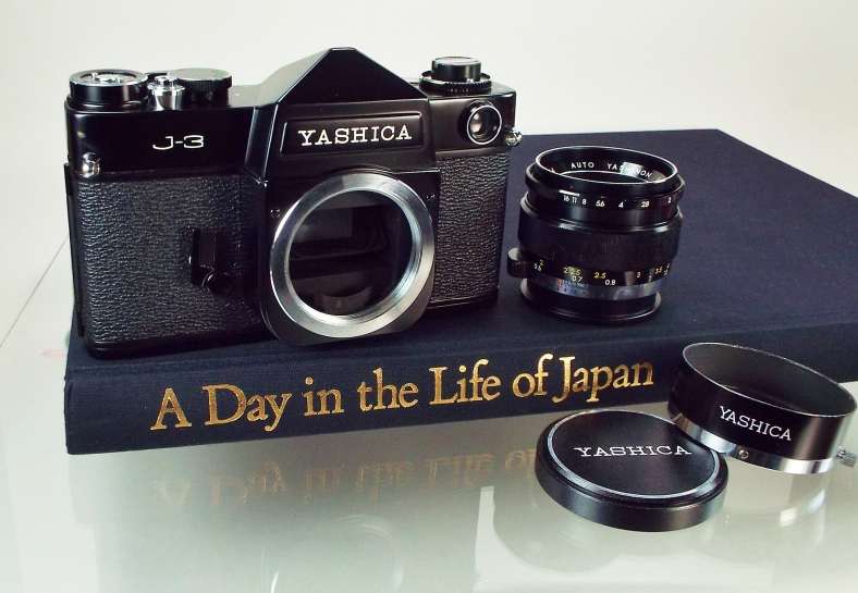 Yashica J3 black on book