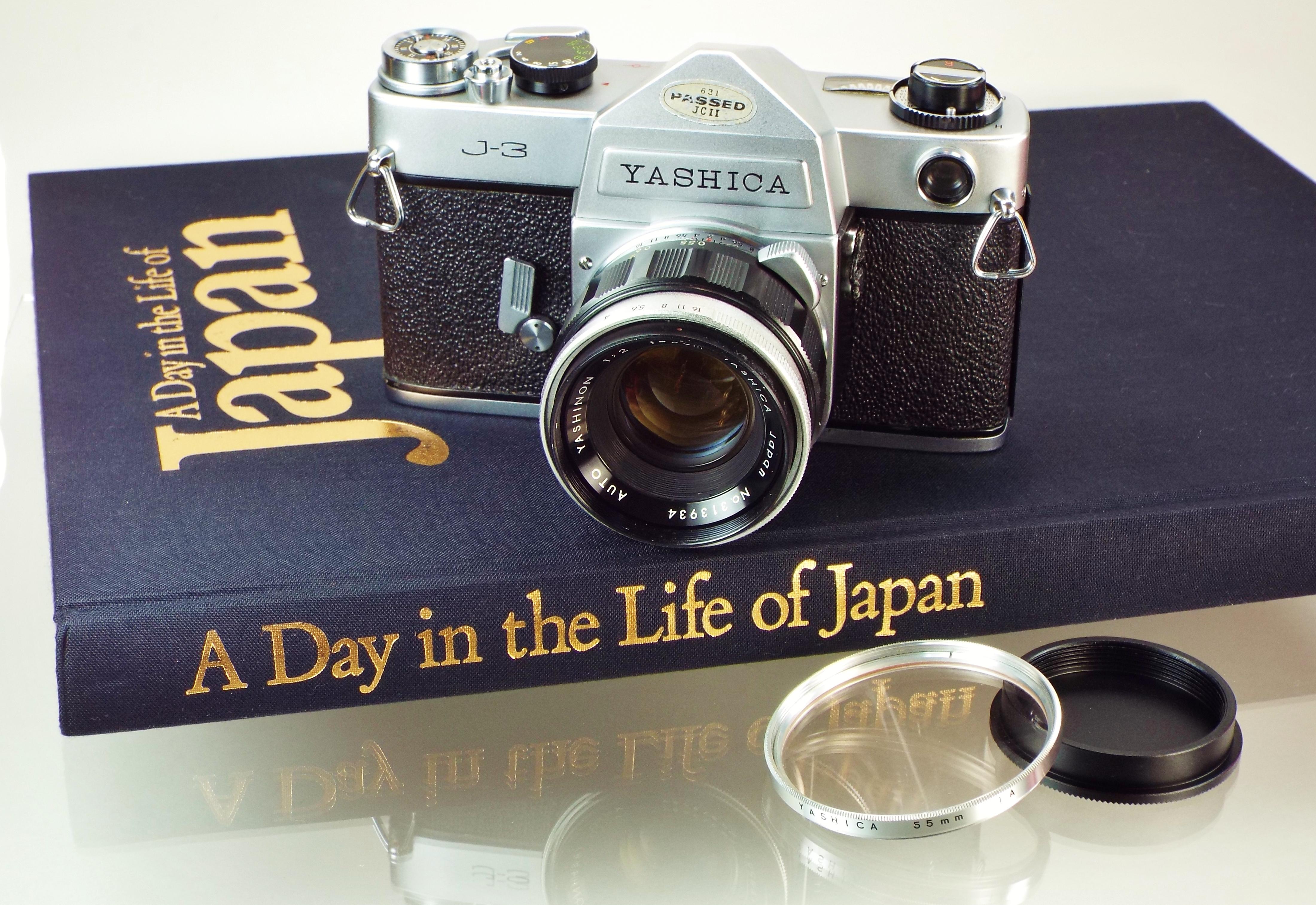 Yashica J3 on book