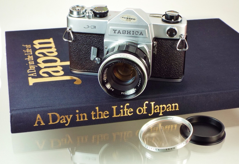Yashica J3 on book