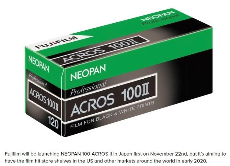 Fujifilm Acros II Box