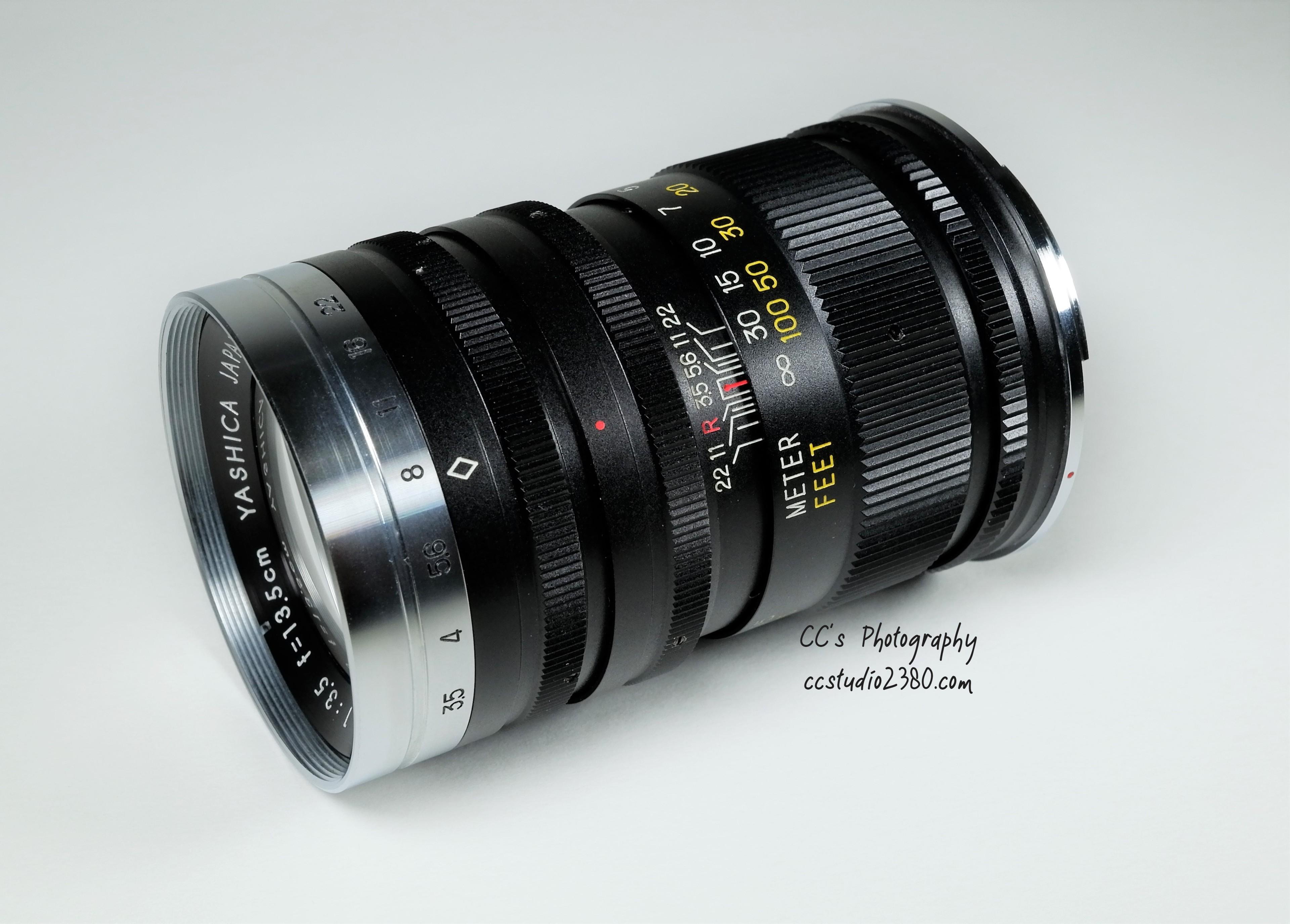 yashica 13.5 lens with logo