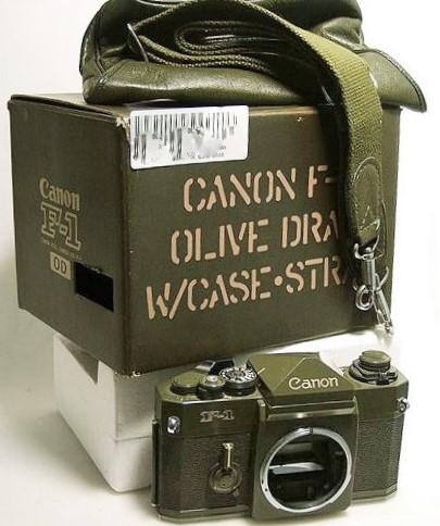 Canon F-1 OD Set with Box Strap Case